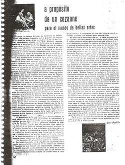 A porposito de un Cezane para el museo de Bellas Artes