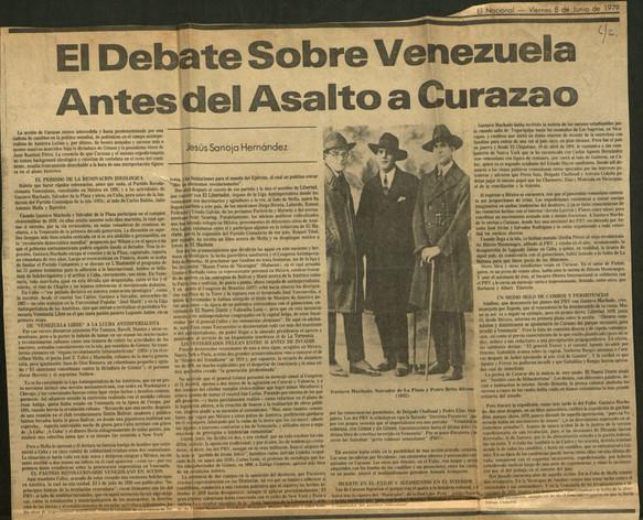 4- El debate sobre Venezuela antes del a