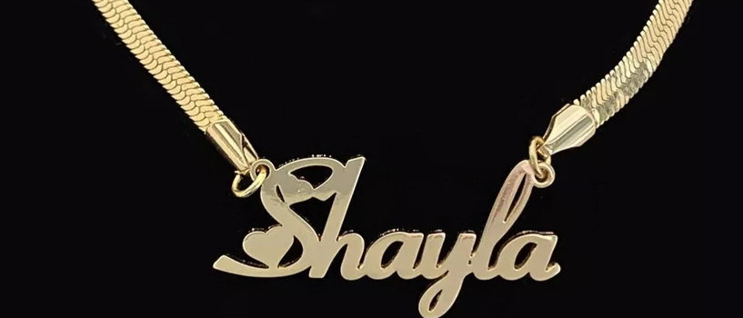 Snake Chain Name Necklace