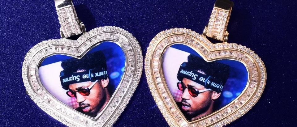 Heart Shaped Baguette Medallion