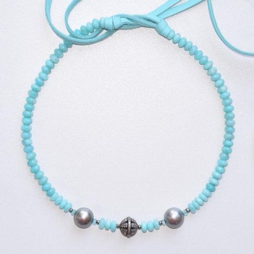 Tahitian Pearls & Amazonite Choker