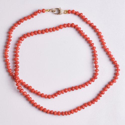 Vintage Mediterranean Red Coral Strand