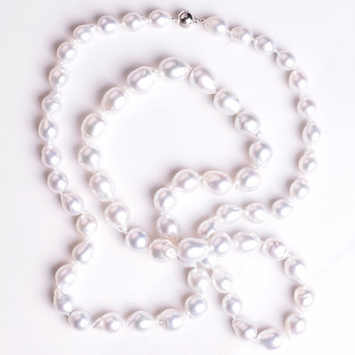 White South Sea Pearl Strand