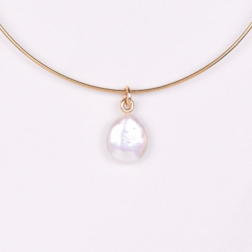 Freshwater Coin Pearl Drop