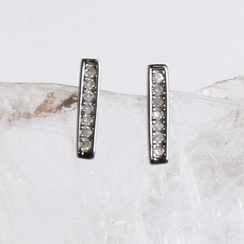 Sterling & Diamond Short Bar Posts
