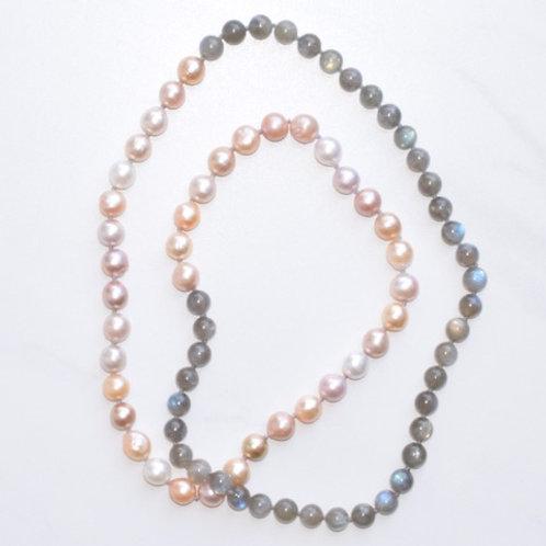 Edison Pearls & Labradorite Candy Necklace