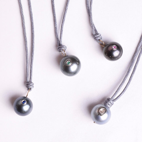 Tahitian Pearl Tie Necklace