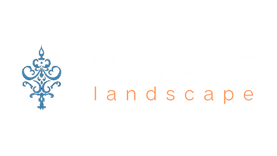 Mirage Landscape White Text Transparent