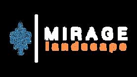 Mirage Landscape White Text Transparent