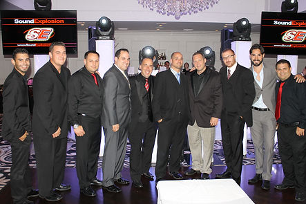 Sound explosion event group staff.  Sound Explosion DJs.  Wedding js.  Corporate DJs.  New york wedding DJ