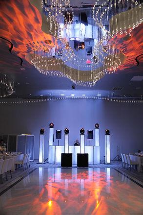 first dance spotlight, intelligent lighting, custom gobo, name in lights, custom monogram, dance floor ligjhting, strobe, event production, event design, wedding dj, corporate dj, new york wedding dj, new jersey wedding dj