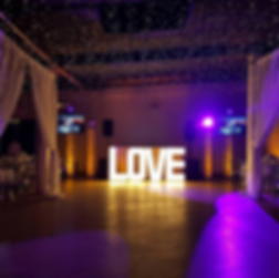 sound explosion love marquee sign wedding