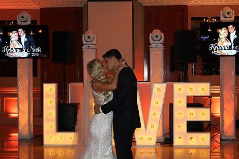 sound explosion love marquee sign wedding