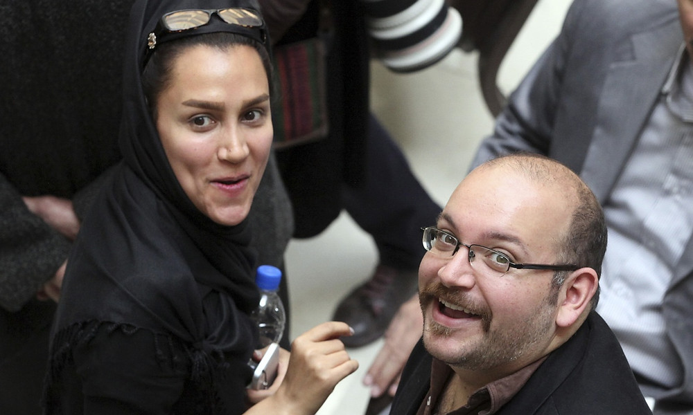 Jason Rezaian and his journalist wife, Yeganeh Salehi, were arrested at their home in Tehran in July 2014. Photograph: Vahid Salemi/AP
