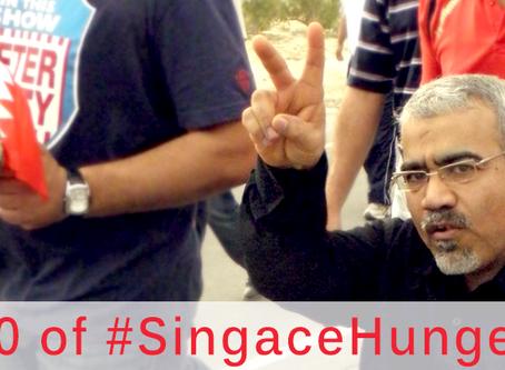 Day 250 of #SingaceHungerStrike—Will You Write?