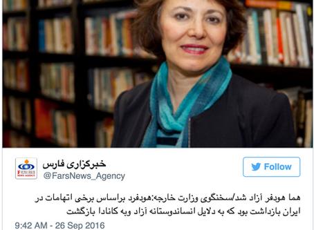 Iranian-Canadian Professor Homa Hoodfar Released From Prison