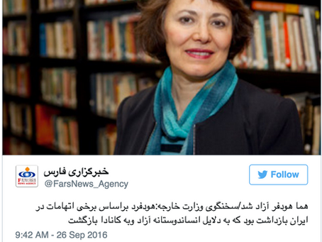 Iranian-Canadian Professor Homa Hoodfar Released From Prison