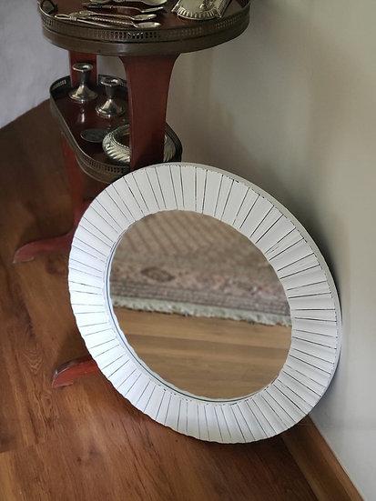 Espejo Redondo Grande Blanco