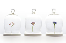 Trio of Stumpwork Flowers
