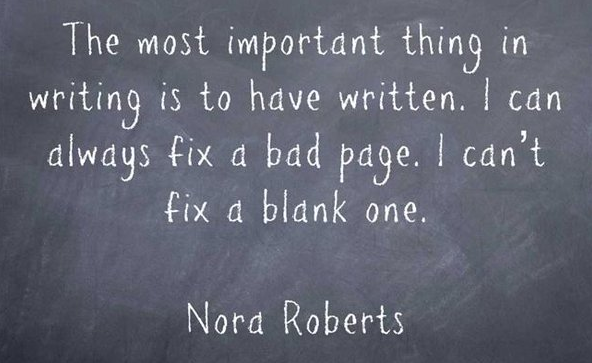 You can't fix a blank page quote.