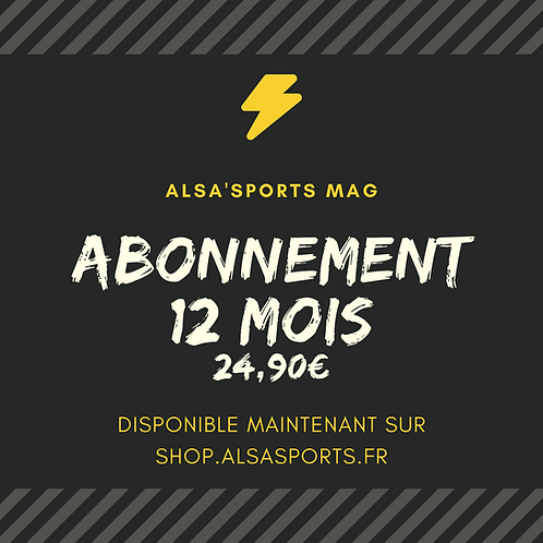 Abonnement Alsa'Sports 12 mois