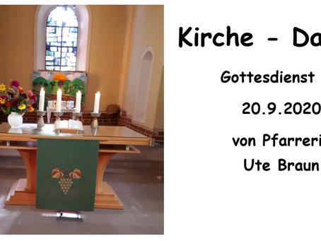 Kirche - Daheim (15. Sonntag nach Trinitatis)
