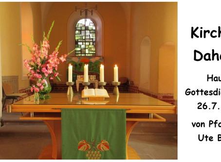Kirche - Daheim (7. Sonntag nach Trinitatis)