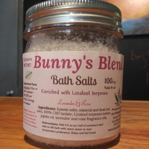 Rose & Lavender Bath Salts with CBD Isolate