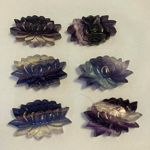 Fluorite Lotus Flowers