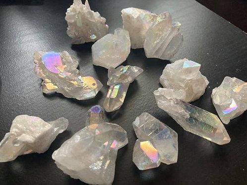 Angel Aura Quartz Raw Cluster