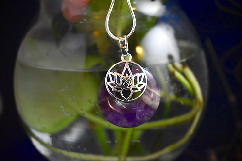 Chevron Ametheyst Lotus Flower