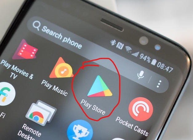 Google Play Store in an Android SmartPhone
