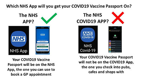 Which NHS App for COVID19 Vaccination Pa