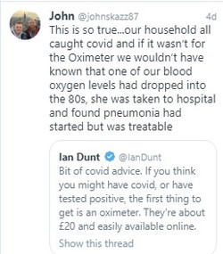 Pulse Oximeter Tweet