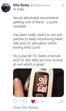 Pulse Oximeter Tweet