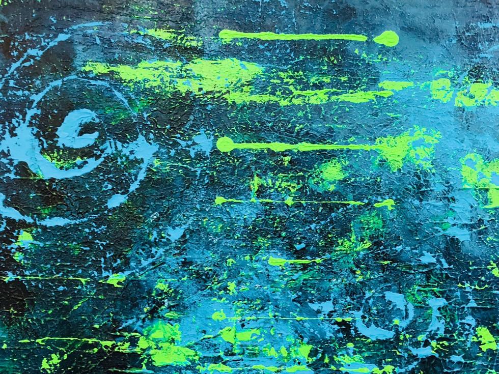 Blue galaxy close up