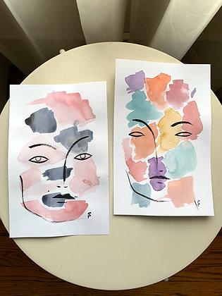Original Watercolors Small Lot 3