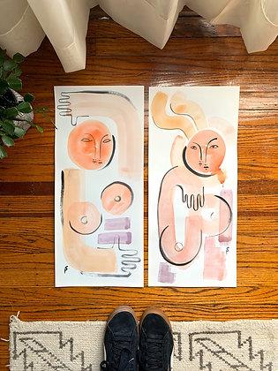 Original Watercolors Lot 2 Large