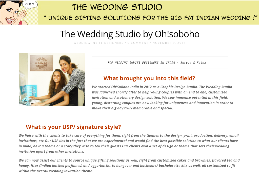 Featured as Top Invitation Designers