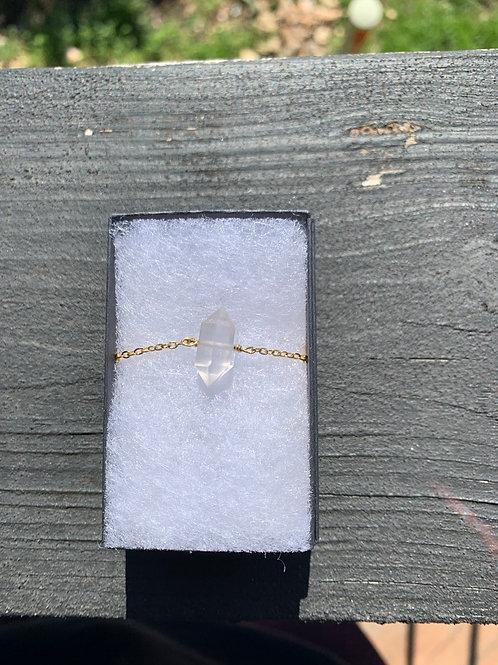 18k Gold & Herkimer Diamond