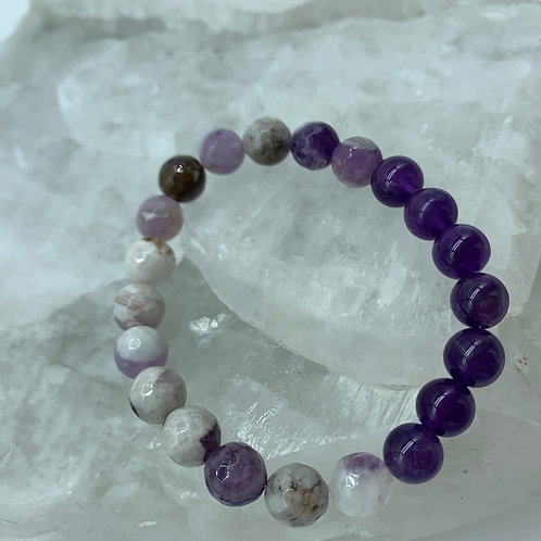 Chevron & Purple Amethyst