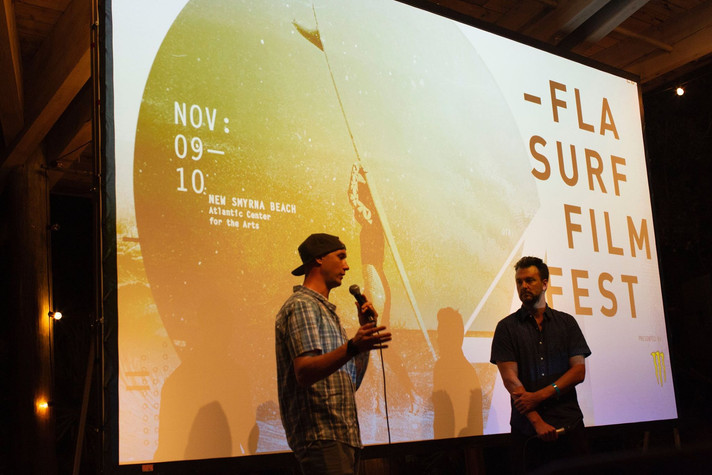 Brent Storm on stage at Florida Film Festival