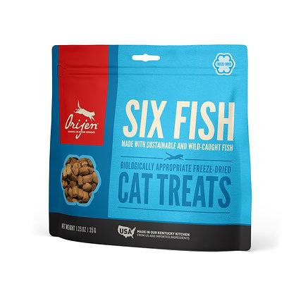ORIJEN Six Fish Treats Gatos