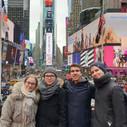 Csapatunk a Time Squaren, New Yorkban.