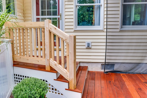 new stairs and railing