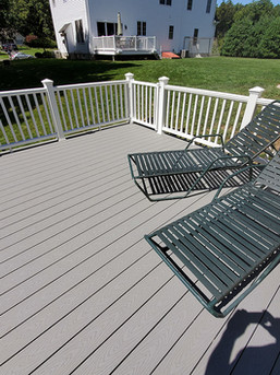 spacious composite pool deck