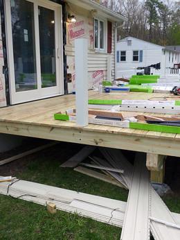 deck and slider installation