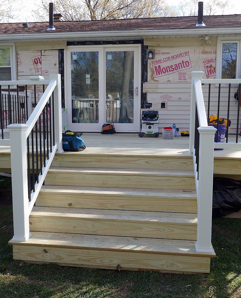 deck and slider installation