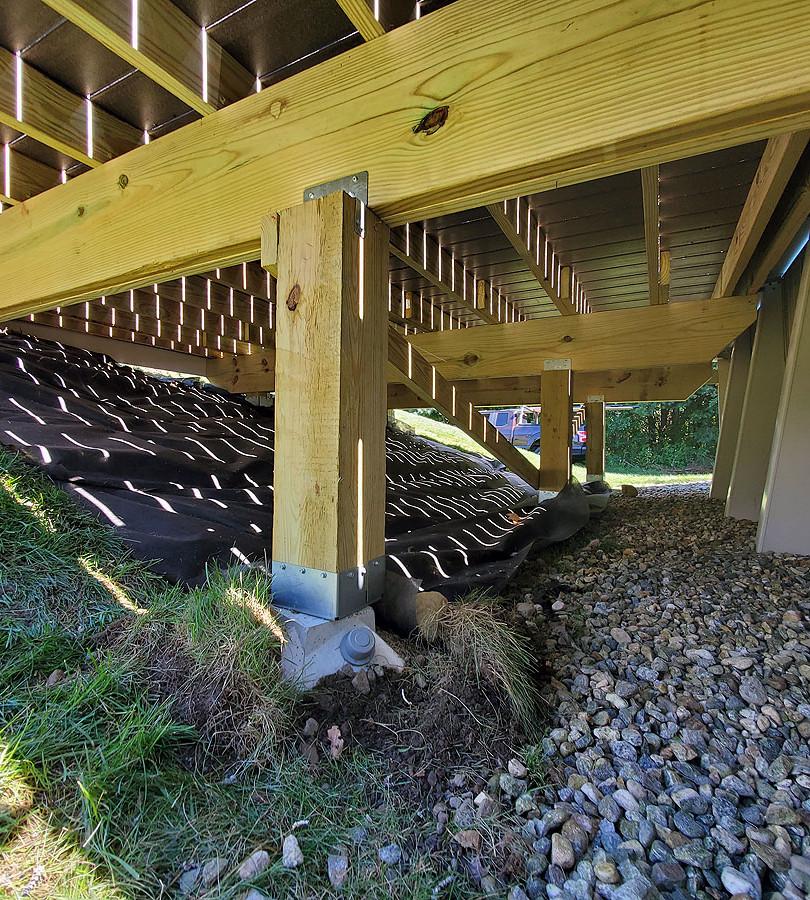 composite deck frame