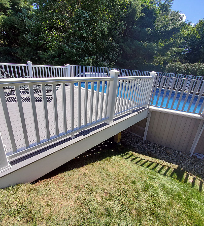 composite pool deck railing